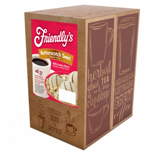 Friendly's Coffee Pods for Keurig K-Cups Brewer Butterscotch Swirl 40 Count Perspective: back