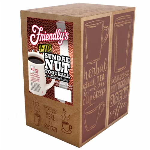 Friendly's Coffee Pods for Keurig K Cup Brewers, Sundae Nut Football, 40 Count Perspective: back