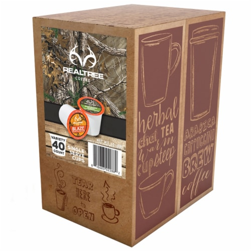 Realtree Variety Pack Coffee Pods Sampler for Keurig K-Cup Brewers, 40 Count Perspective: back