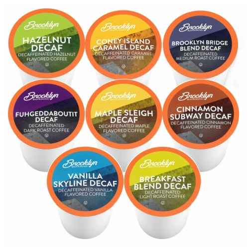 Brooklyn Beans Decaf Variety Pack Coffee Pods for Keurig K-Cups Coffee Maker, 40 Count Perspective: back