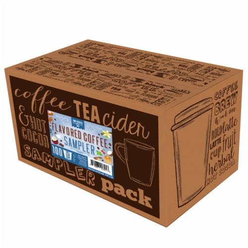 Two Rivers Flavored Coffee Pods Variety Sampler Pack for Keurig K-Cup Makers, 100 count Perspective: back