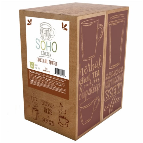 Soho Chocolate Truffle Hot Chocolate Pods for Keurig K-Cup Brewers, 40 Count Perspective: back