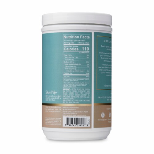 Tone It Up Vanilla Plant-Based Protein Powder Perspective: back