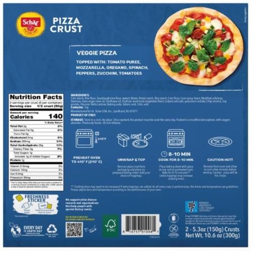 Schar Gluten-Free Pizza Crust Perspective: back