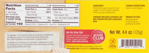 Schar Cocoa Wafers Perspective: back