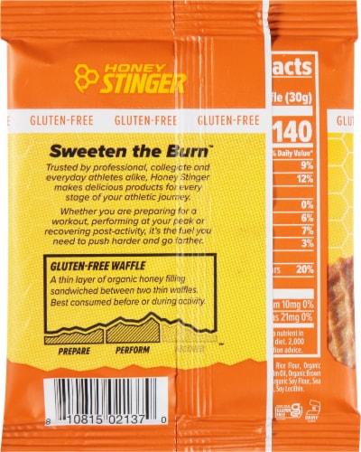 Honey Stinger® Gluten Free Salted Caramel Waffle Perspective: back