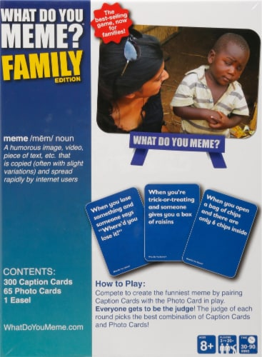 What Do You Meme? Family Edition Card Game Perspective: back