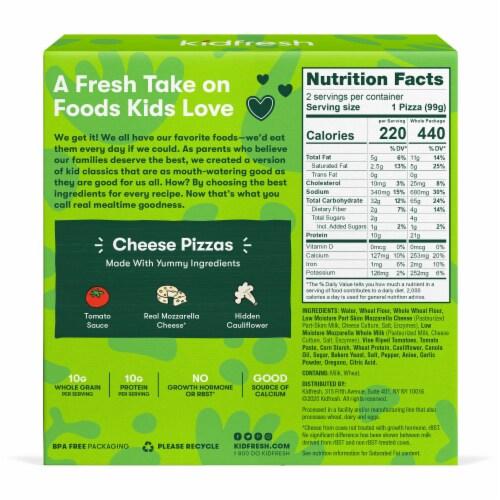 Kidfresh Mamma Mia Cheesy Pizza Perspective: back