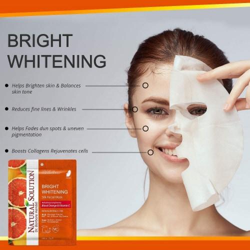 Natural Solution Facial Mask, Blood Orange & Vitamin C, Silk Mask with Pink Salt   Pack of 10 Perspective: back