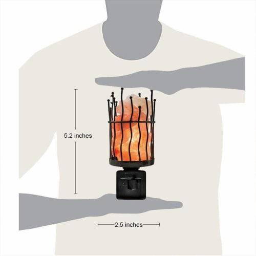 Himalayan Glow Pink Salt Wall Plug in Lamp, 360° Rotatable Base, Pillar Nightlight   2 Packs Perspective: back