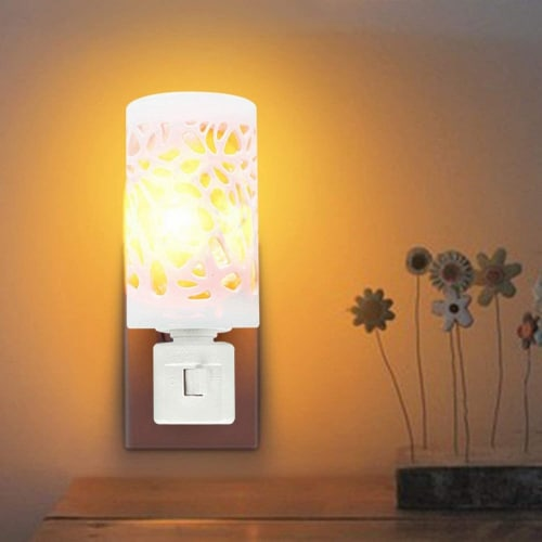 Himalayan Glow Bedroom Decoration Lamp, Warm Amber Glow, Natural Salt Night Light | 2 Pack Perspective: back