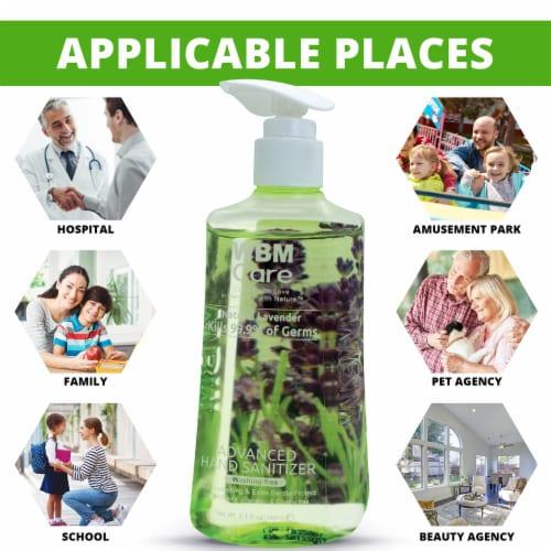 WBM Care Hand Sanitizer, Natural Lavender, Alcohol-Based, Gentle Protection   300 ml Perspective: back