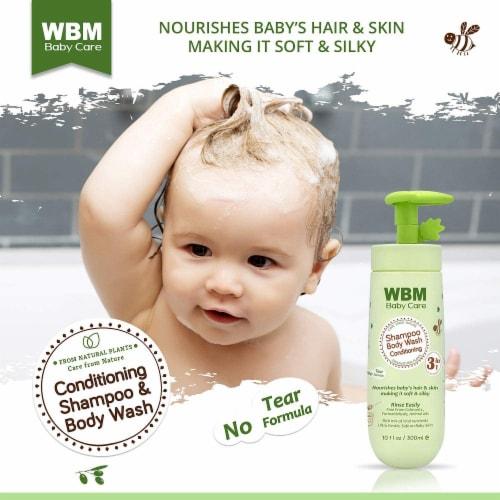 WBM Baby Care Body Wash, Hair Conditioning & Skin Moisturizing, Shampoo & Body Wash   10 Oz Perspective: back