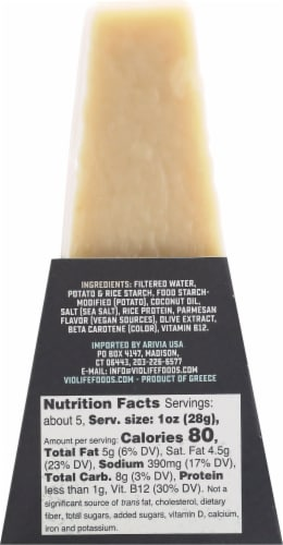 Violife 100% Vegan Just Like Parmesan Cheese Perspective: back