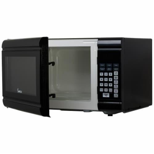 0.9 CU. FT. 900 Watt Countertop Microwave Oven, Black Perspective: back
