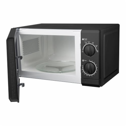 0.6 Cu. Ft. 700 Watts Countertop Microwave Oven, Black Perspective: back