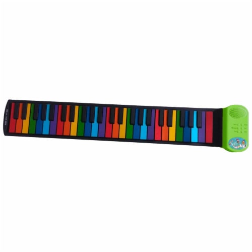 Riptunes ERK-4902 Roll It Up Musical Keyboard with 49 Colorful Keys, Green Perspective: back