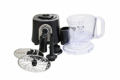 Courant 12-cup Food Processor with Kugel Disc - Black Perspective: back