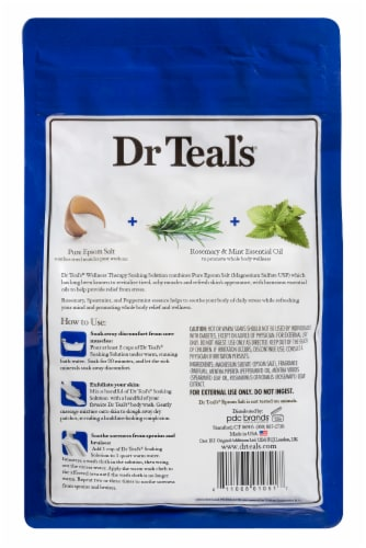 Dr Teal's Wellness Therapy Pure Epsom Salt Soaking Solution Perspective: back