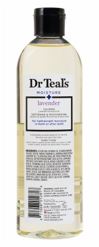 Dr Teal's Lavender Bath & Body Oil Perspective: back