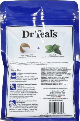 Dr Teal's Pre & Post Workout Pure Epsom Salt Soaking Solution Perspective: back