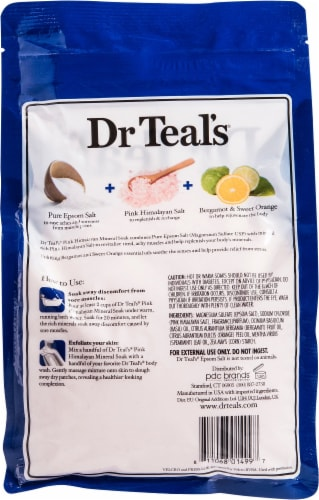 Dr Teal's Restore & Replenish Pink Himalayan Mineral Soak Perspective: back