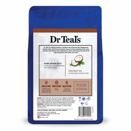 Dr Teal's Coconut Oil Pure Epsom Salt Soaking Solution Perspective: back