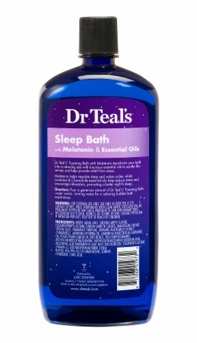 Dr Teal's Sleep Bath with Melatonin & Essential Oils Foaming Bath Perspective: back