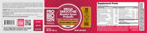 Probiogen® Mega Smoothie Booster Spore Probiotic Powder Perspective: back