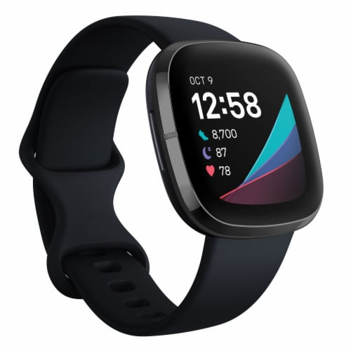 Fitbit Sense - Carbon / Graphite Perspective: back