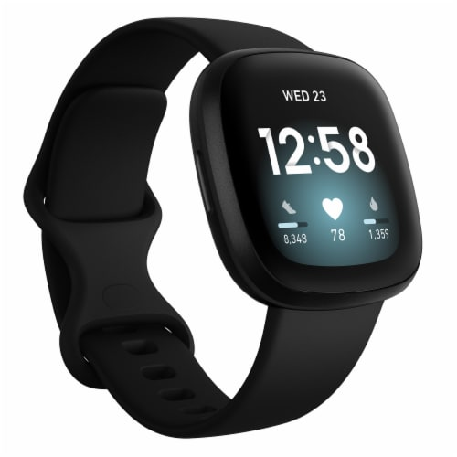 Fitbit Versa 3 -  Black Perspective: back