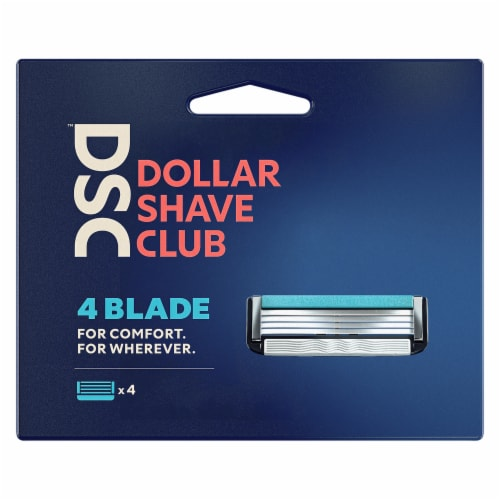Dollar Shave Club 4 Blade Razor Refill Cartridges Perspective: back
