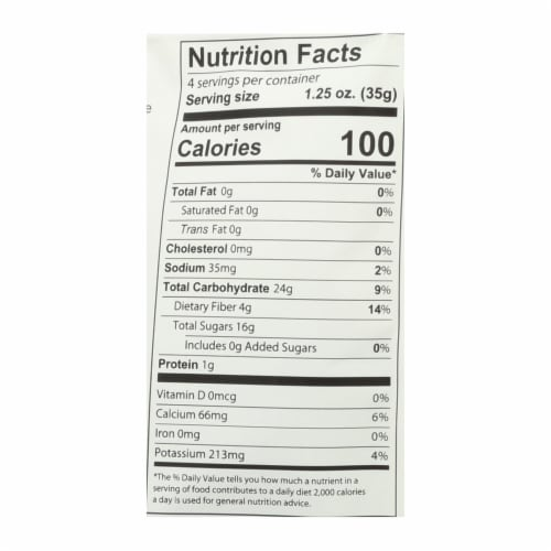 Fruit Bliss - Organic Turkish Figs - Figs - Case of 6 - 5 oz. Perspective: back
