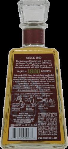 1800 Reposado Tequila Perspective: back