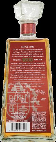 1800 Reposado Reserva Tequila Perspective: back