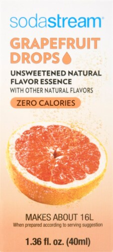 SodaStream Unsweetened Natural Flavor Essence Grapefruit Drops Perspective: back