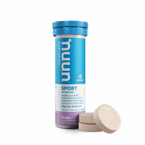 Nuun Sport Grape Electrolyte Supplement Water Enhancer Tablets Perspective: back