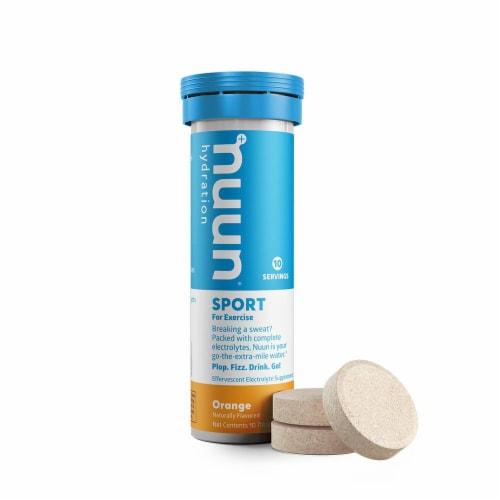 Nuun Sport Orange Electrolyte Supplement Water Enhancer Tablets Perspective: back