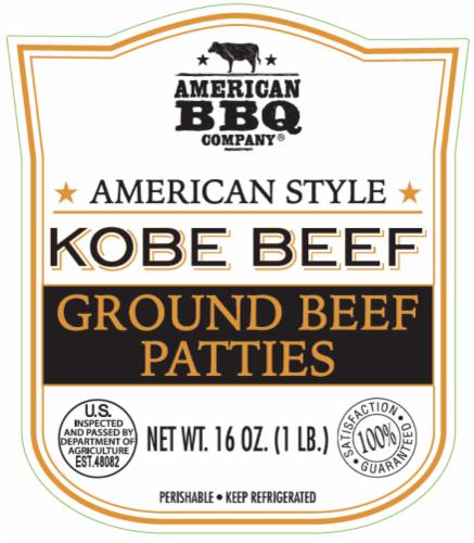 American BBQ Company Kobe Ground Beef Patties Perspective: back