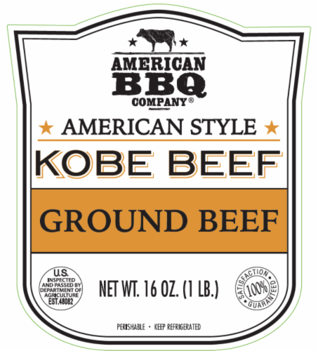 American BBQ Company Kobe Ground Beef Perspective: back
