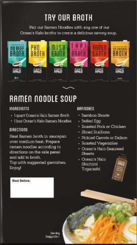 Ocean's Halo Organic Ramen Noodles Perspective: back