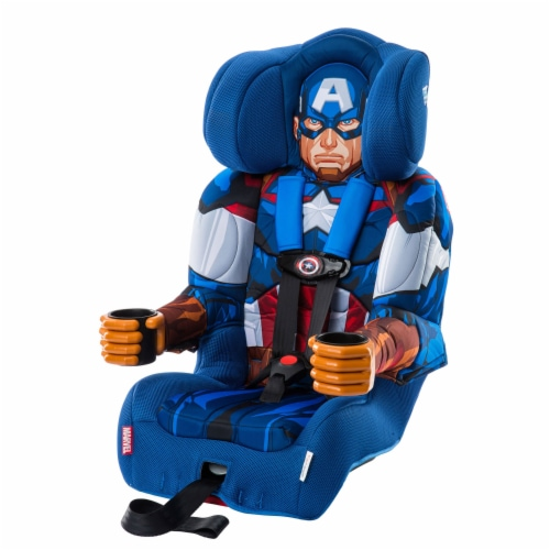 KidsEmbrace Marvel Avengers Captain America Combination Harness Booster Car Seat Perspective: back