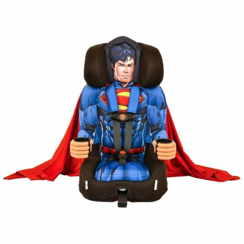 Kids Embrace DC Comics Superman Combination Harness Booster Car Seat with Cape Perspective: back