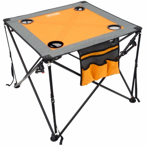 Creative Outdoor Folding Wine Table - Orange/Gray Perspective: back