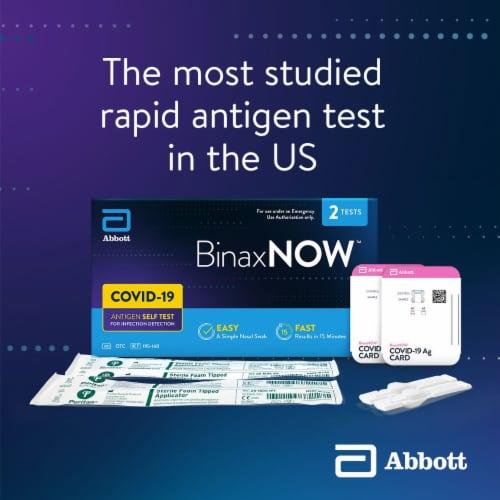Abbott BinaxNOW COVID-19 Antigen Self Test Kit Perspective: back