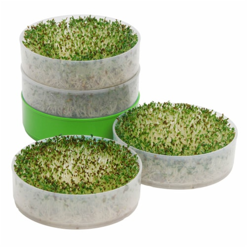 Time for Treats VKP Brans Kitchen Crop Seed Sprouter,  6  Diameter Trays, 1 Oz Alfalfa Perspective: back