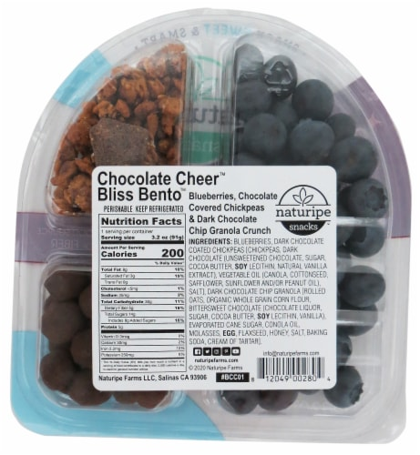 Naturipe Bliss Bentos Chocolate Cheer Snack Pack Perspective: back