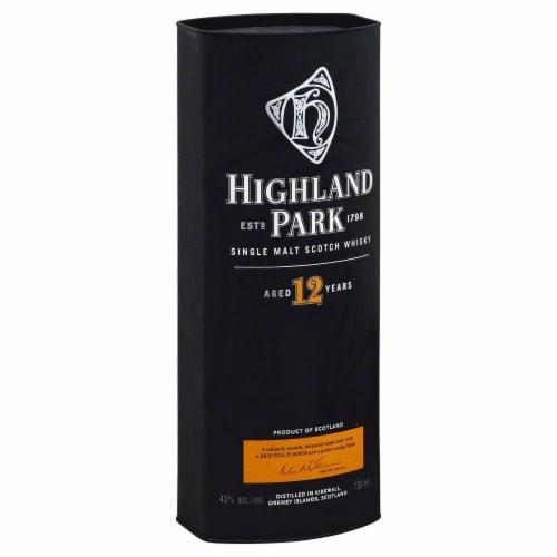 Highland Park 12 Year Single Malt Scotch Whisky Perspective: back