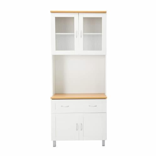 Kitchen Cabinet in White - Hodedah Perspective: back