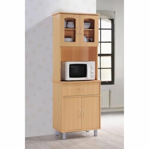 Kitchen Cabinet in Beech Brown - Hodedah Perspective: back